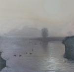 Mist in Giethoorn (olieverf)