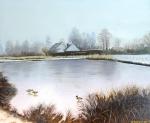 winter Kerkweg 25 Giethoorn (olieverf)